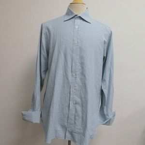 THOMAS PINK TURQUOISE HOUNDSTOOTH FC shirt 15.5 M